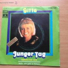 Discos de vinilo: GITTE - JUNGER TAG - EUROVISION 1973. Lote 44010538