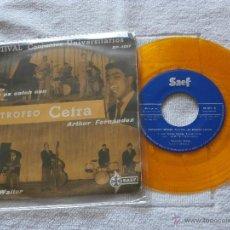 Discos de vinilo: CONJUNTO WOODY WALTER (LOS PAJAROS LOCOS) / CATCH AS CATCH CAN (1959) EP 4 TEMAS-VINILO NARANJA-. Lote 44011034
