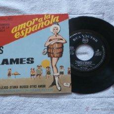 Discos de vinilo: LOS FLAMES 7´EP UN DOMINGO + 3 TEMAS (1966) B.S.PELICULA AMOR A LA ESPAÑOLA *MUY BUEN ESTADO*. Lote 44011326