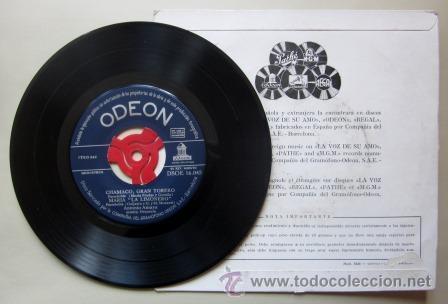 Discos de vinilo: ANTONIO AMAYA - CHAMACO, GRAN TORERO - MARÍA LA LIMONERO, CAMPANITAS CASTELLANAS... - Foto 2 - 44018318