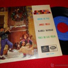 Discos de vinilo: CUARTETO MARANATHA NOCHE DE PAZ/JINGLE BELLS/BLANCA NAVIDAD/VALS DE LAS VELAS EP 1964 REGAL. Lote 44021909