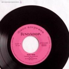 Discos de vinilo: DISCO FUNDADOR 10.224(1971) MARI TRINI.CUANDO ME ACARICIAS.UN HOMBRE MARCHO. AMANECI EN TUS BRAZOS. Lote 44029856