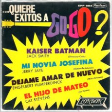 Discos de vinilo: EP QUIERE EXITOS A GO GO? : CAT STEVENS , ENGELBERT HUMPERDICK, JERRY JAYE & JACK SMITH . Lote 44030145