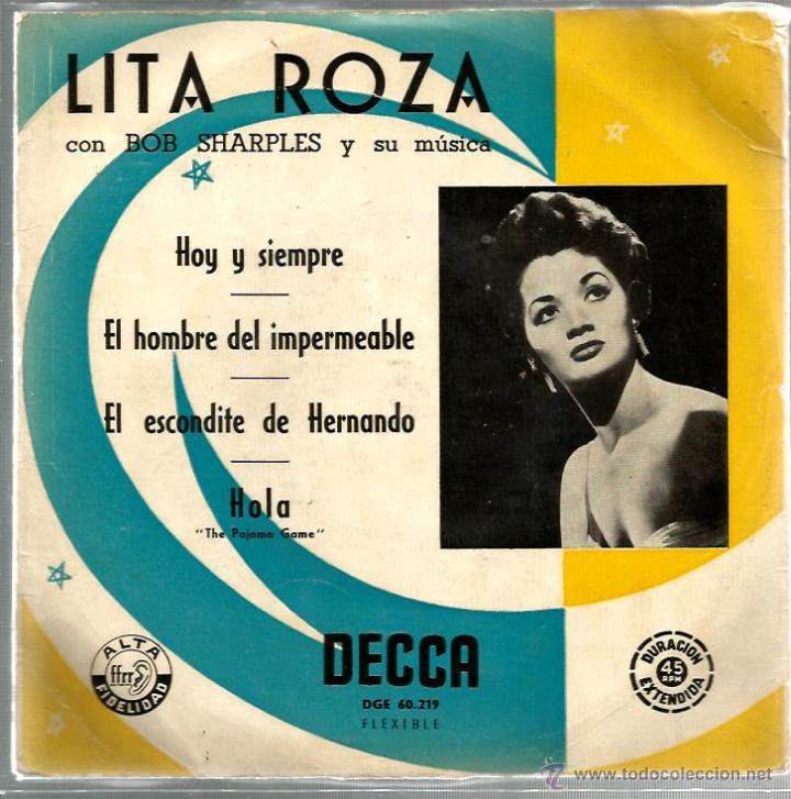 EP LITA ROZA : HOY Y SIEMPRE (Música - Discos de Vinilo - EPs - Pop - Rock Extranjero de los 50 y 60)