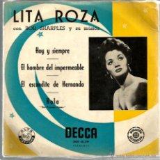 Discos de vinilo: EP LITA ROZA : HOY Y SIEMPRE. Lote 44030194