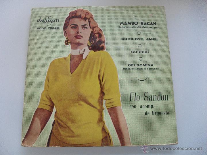 FLO SANDON CON ACOMP DE ORQUESTA - MAMBO BACAN ( PELICULA CHICA DE ORO ) + 3 EP (Música - Discos de Vinilo - EPs - Bandas Sonoras y Actores)