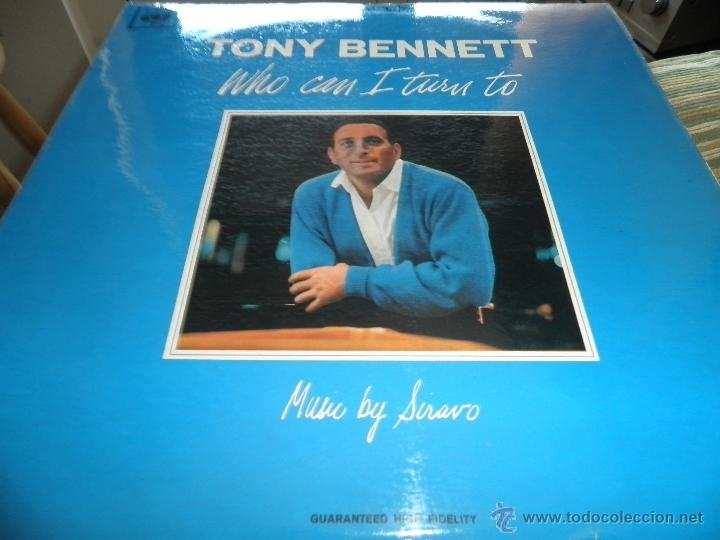 Discos de vinilo: TONY BENNETT - WHO CAN I TURN TO LP - ORIGINAL INGLES CBS 1965 STEREO - MUY NUEVO (5) - Foto 10 - 44054168