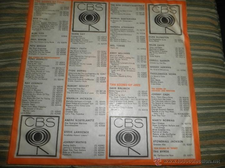 Discos de vinilo: TONY BENNETT - WHO CAN I TURN TO LP - ORIGINAL INGLES CBS 1965 STEREO - MUY NUEVO (5) - Foto 12 - 44054168