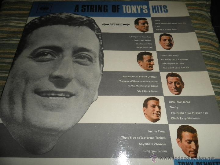 Discos de vinilo: TONY BENNETT - A STRING OF TONY´S HITS DOBLE LP - ORIGINAL INGLES CBS1966 STEREO - GATEFOLD COVER - - Foto 2 - 44054421