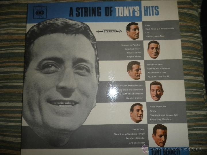 Discos de vinilo: TONY BENNETT - A STRING OF TONY´S HITS DOBLE LP - ORIGINAL INGLES CBS1966 STEREO - GATEFOLD COVER - - Foto 25 - 44054421