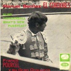 Discos de vinilo: MANUEL BENITEZ EL CORDOBES***FRANCK POURCEL Y SU GRAN ORQUESTA**SINGLE 1966. Lote 44061114