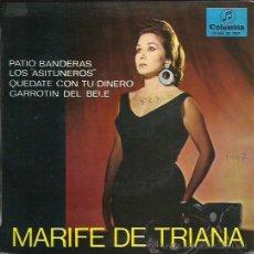 Discos de vinilo: MARIFE DE TRIANA EP SELLO COLUMBIA AÑO 1967. Lote 44073352