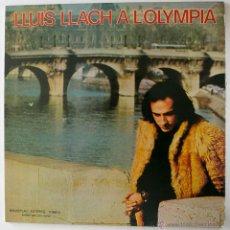 Discos de vinilo: 3 LPS L. LLACH - 1 LP LLUIS LLACH A L´OLYMPIA 1973 MOVIEPLAY / 2 LPS CAMP DEL BARÇA 1985 - VG++/VG++. Lote 44076641