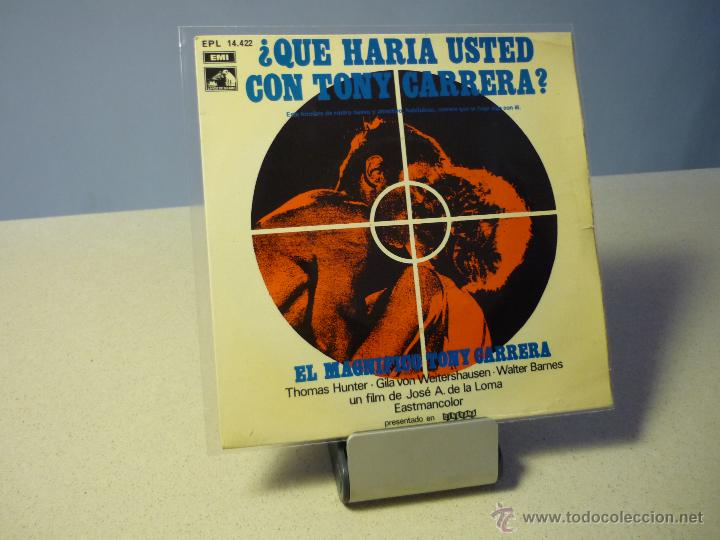 BANDA SONORA EL MAGNÍFICO TONY CARRERA MÚSICA GIANNI MARCHETTI EP (Música - Discos de Vinilo - EPs - Bandas Sonoras y Actores)