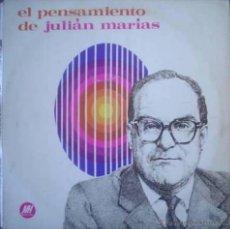 Discos de vinilo: LP DOBLE DE JULIÁN MARÍAS AÑO 1970 EDICIÓN ARGENTINA. Lote 27772036