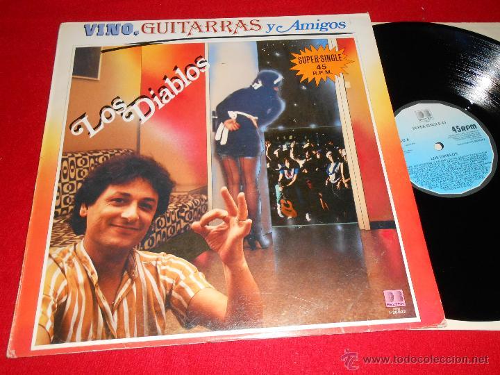 LOS DIABLOS VINO GUITARRAS Y AMIGOS MEDLEY/DONG DONG DIKI DIKI DON/VINO GUITARRAS AMIGOS 12 MX 1983 (Música - Discos de Vinilo - Maxi Singles - Grupos Españoles 50 y 60)