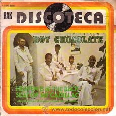 Discos de vinilo: HOT CHOCOLATE - HEAVEN IS IN THE BACK SEAT OF A CADILLAC / SEX APPEAL - SINGLE EMI 1976. Lote 44096061
