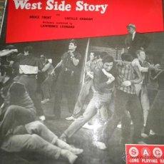 Discos de vinilo: WEST SIDE STORY LP DE 10 PULGADAS ORIGINAL INGLES - SAGA 1959 MONOAURAL MUY RARO VER FOTOS.. Lote 44097790