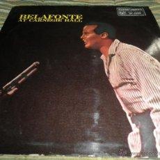 Dischi in vinile: HARRY BELAFONTE - BELAFONTE AT CARNEGIE HALL LP - ORIGINAL INGLES RCA VICTOR 1960 - STEREO MUY RARO. Lote 280261263