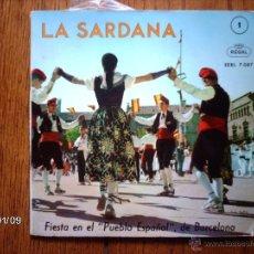Discos de vinilo: COBLA LA PRINCIPAL DE BISBAL + COBLA GIRONA - LA SARDANA 1 - FIESTA EN EL PUEBLO ESPAÑOL DE BARCEL. Lote 44102821