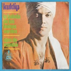 Discos de vinilo: SINGLE - KULDIP - LA BALADA DE LOS BOINAS VERDES / OJOS DE ESPAÑA - ED. HISPAVOX - AÑO 1966. Lote 44105845