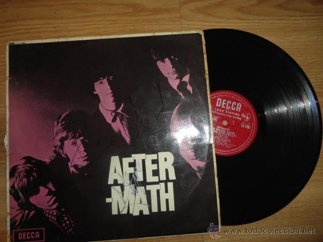 LP AFTERMATH THE ROLLING STONES 1966 ENGLAND LK 4786 RED ¿FIRMADO POR MIKE JAGGER? (Música - Discos - LP Vinilo - Rock & Roll)
