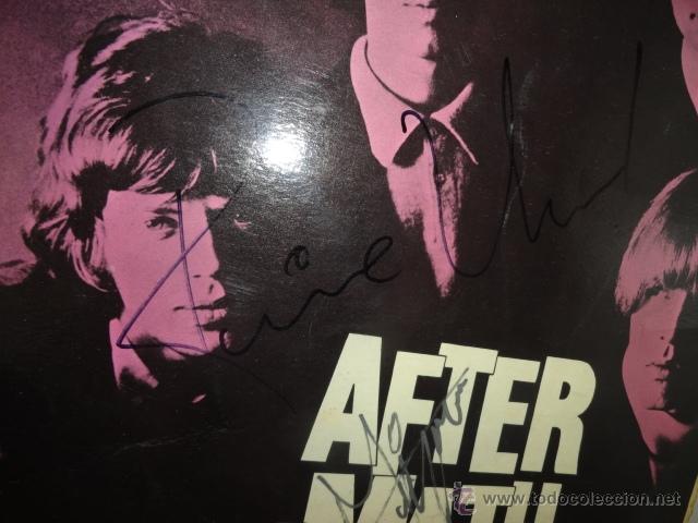 Discos de vinilo: LP AFTERMATH THE ROLLING STONES 1966 ENGLAND LK 4786 RED ¿FIRMADO POR MIKE JAGGER? - Foto 2 - 44108000