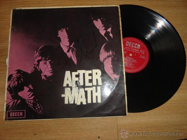 Discos de vinilo: LP AFTERMATH THE ROLLING STONES 1966 ENGLAND LK 4786 RED ¿FIRMADO POR MIKE JAGGER? - Foto 5 - 44108000