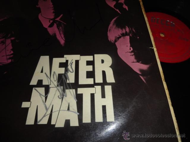 Discos de vinilo: LP AFTERMATH THE ROLLING STONES 1966 ENGLAND LK 4786 RED ¿FIRMADO POR MIKE JAGGER? - Foto 6 - 44108000