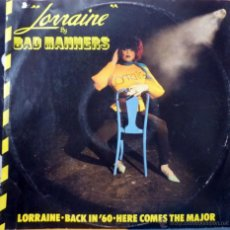 Discos de vinilo: BAD MANNERS. LORRAINE/ BACK IN '60/ HERE COMES THE MAJOR. MAGNET, UK 1980 MAXI 12'. Lote 44108156