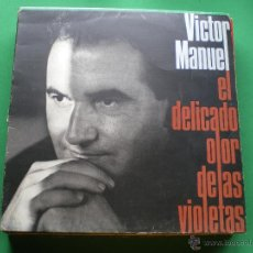 Discos de vinilo: LP - VICTOR MANUEL - EL DELICADO OLOR DE LAS VIOLETAS (SPAIN, DISCOS ARIOLA 1990) PEPETO. Lote 44111162