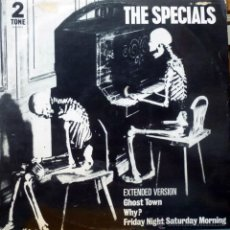 Discos de vinilo: SPECIALS. GHOST TOWN/ WHY?/ FRIDAY NIGHT. 2 TONE-CHRYSALIS, UK 1981 MAXI 12' ORINGINAL. Lote 44113124