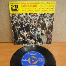 Discos de vinilo: BRIGITTE BARDOT. ORQUESTA BRASILEÑA. EP / BARCLAY - 1961. RARO Y DIFÍCIL. CALIDAD NORMAL. **/**. Lote 44113349
