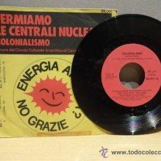 Discos de vinilo: PAOLA NICOLAZZI. FERMIAMO LE CENTRALI NUCLEARI.. SINGLE - 1978. RARÍSIMO. POLÍTICA !! ***/***. Lote 44114923