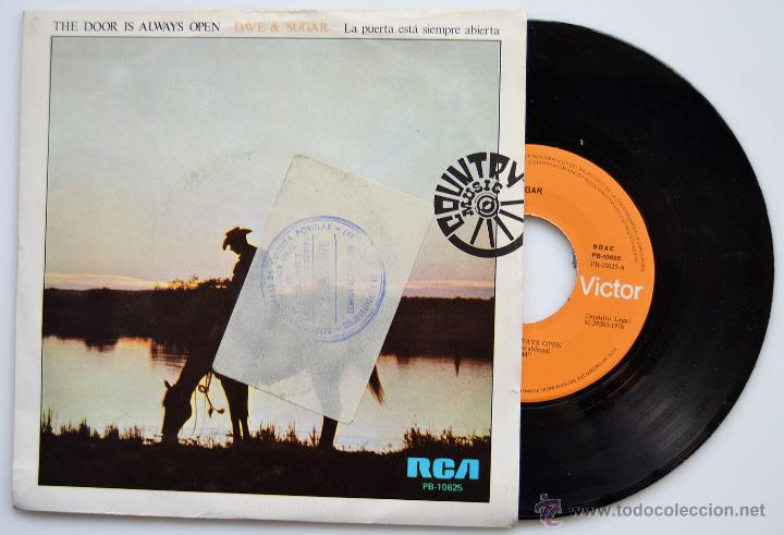 DAVE & SUGAR-THE DOOR IS ALWAYS OPEN/LATE NITE COUNTRY LOVIN' MUSIC-SINGLE-1976-RCA- SPÑ (Música - Discos - Singles Vinilo - Country y Folk)