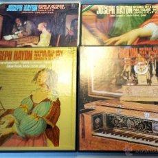 Discos de vinilo: JOSEPH HAYDN. INTEGRAL DE LAS SONATAS. 4 CAJAS - 15 LP'S CON FOLLETOS EXPLICATIVOS. MUY BUEN ESTADO. Lote 44130851
