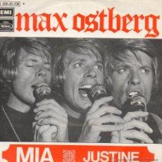 Discos de vinilo: MAX OSTBERG - FESTIVAL DE BENIDORM, SG, MIA + 1, AÑO 1971. Lote 44134698