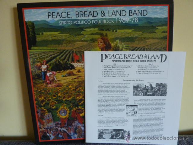 Discos de vinilo: PEACE, BREAD & LAND BAND.-Spirito-politico folk rock 1969-78 / Psych USA - Foto 2 - 44137771
