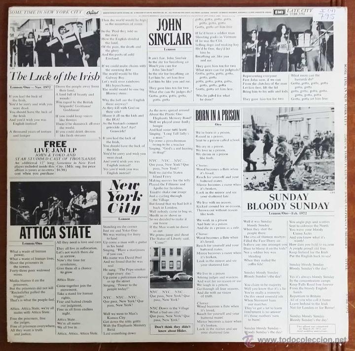 Discos de vinilo: JOHN LENNON & YOKO ONO / PLASTIC ONO BAND ( LIVE JAM - SOMETIME IN NEW YORK CITY ) USA-1978 2LPS - Foto 3 - 44137802