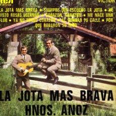 Discos de vinilo: HERMANOS ANOZ- LA JOTA MAS BRAVA EP SPAIN 1969. Lote 44138875