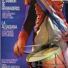 Discos de vinilo: EL TAMBOR DE GRANADEROS-LA ALSACIANA. Lote 44150613