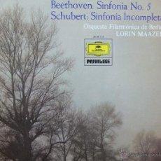 Discos de vinilo: BEETHOVEN -Nº5 -LP. Lote 44154988