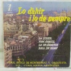Discos de vinilo: LO D'AHIR I LO DE SEMPRE. Lote 44158544