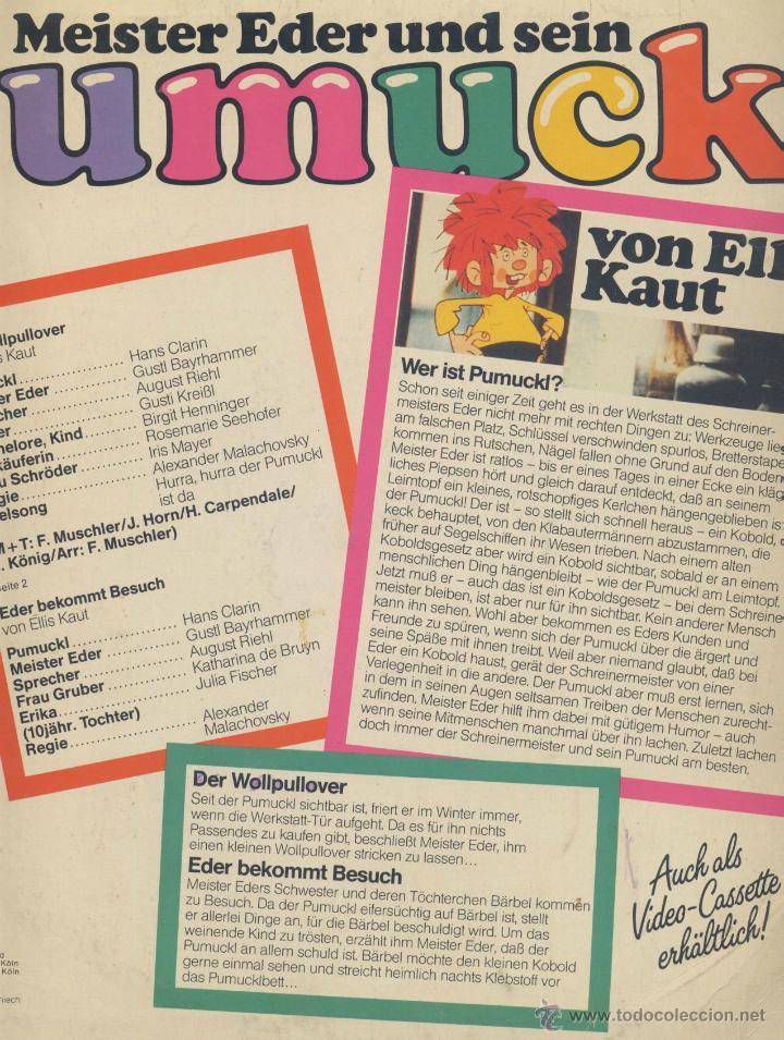 Discos de vinilo: PUMUCKL- EN ALEMAN - Foto 2 - 44164316