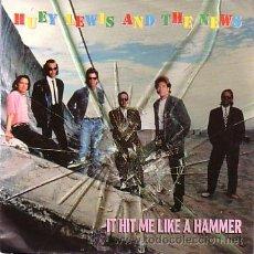 Discos de vinilo: HUEY LEWIS & THE NEWS - IT HIT ME LIKE A HAMMER / DO YOU LOVE ME, OR WHAT?- SINGLE EMI ALEMANIA 1991. Lote 44167831