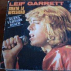 Discos de vinilo: LEIF GARRETT - SIENTO LA NECESIDAD / NOCHES DE NUEVA YORK - SINGLE 1979. Lote 44170894
