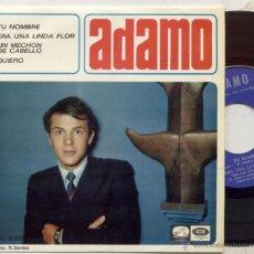 Discos de vinilo: EP 45 RPM / ADAMO EN ESPAÑOL / TU NOMBRE // EDITADO POR LA VOZ DE SU AMO . Lote 44173173