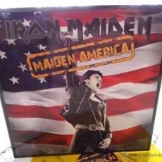 Discos de vinilo: IRON MAIDEN - MAIDEN AMERICA - LIMITED LP AMARILLO - MUY DIFICIL - NUEVO! - VINILOVINTAGE. Lote 44174388