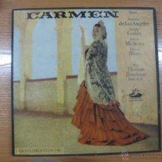 Discos de vinilo: CARMEN. BIZET. VICTORIA DE LAS ANGELES. NICOLAI GEDDA.ANGEL RECORDS.OA-525 (3ACX-47216-7-8) 3 LPS.. Lote 44176197
