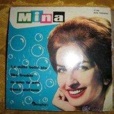 Discos de vinilo: MINA. LE MILLE BOLLE BLU + 3. EP. DISCOPHON 1961. Lote 44178491